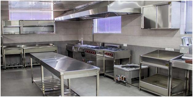 یک آشپزخانه صنعتی - طراحی یک آشپزخانه صنعتی در سه سوت
